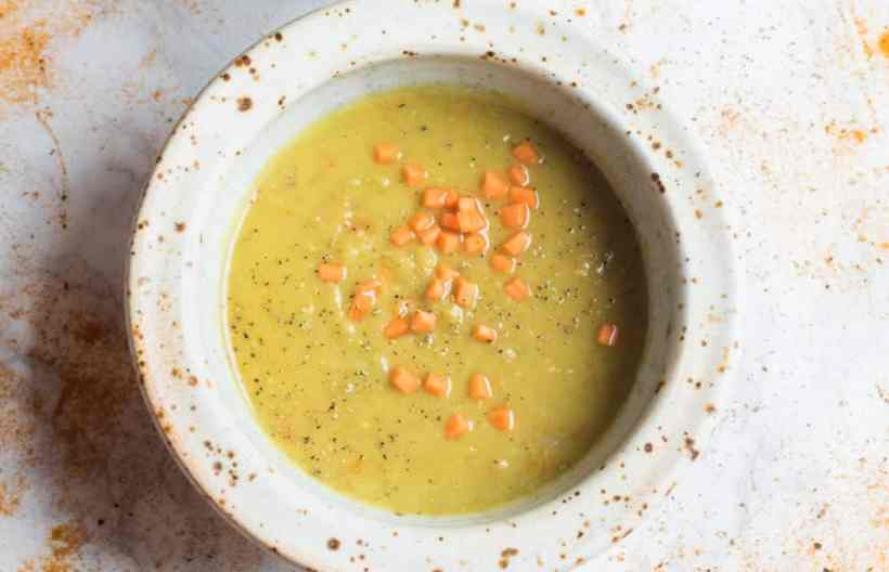 17 Cozy Split Pea Soup Recipes to Try This Fall: Vegan Coconut Split Pea Soup