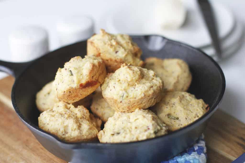 49 Savory Vegan Breakfast Recipes: Jalapeño Cornbread Muffins