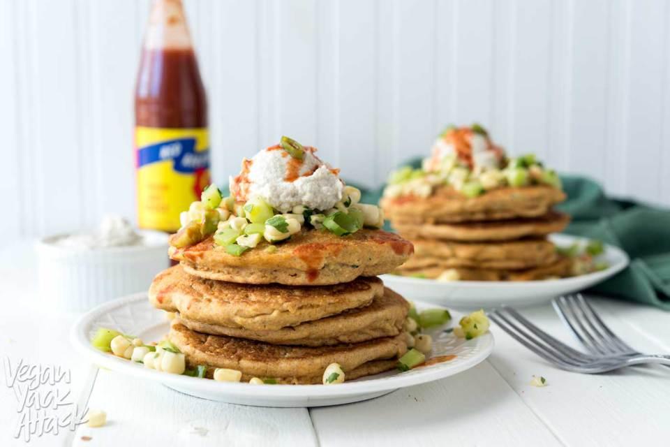 Savory Vegan Breakfast Recipes: Zucchini Corn Cakes