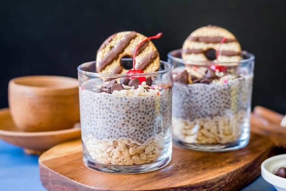 18 Chia Seed Pudding Recipes Everyone Will Love: Chocolate and Rice Krispies Chia Pudding