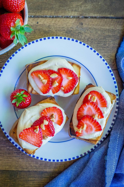 Open Faced PB&J Shortcakes