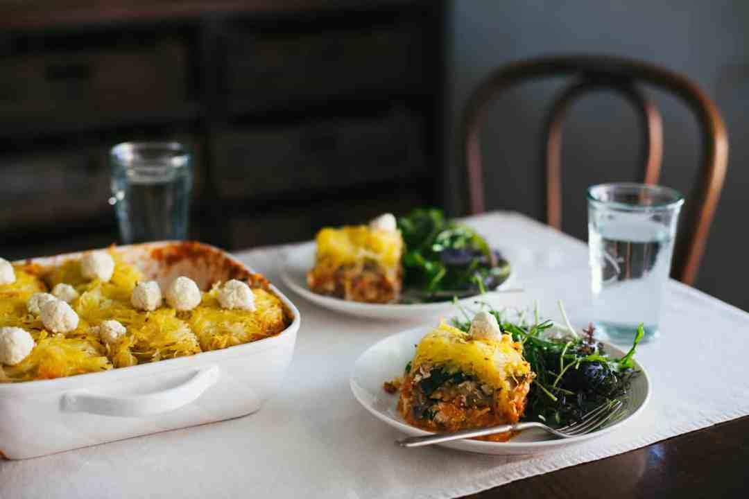 32 Creative Spaghetti Squash Recipes: Spaghetti Squash Mung Bean Lasagna