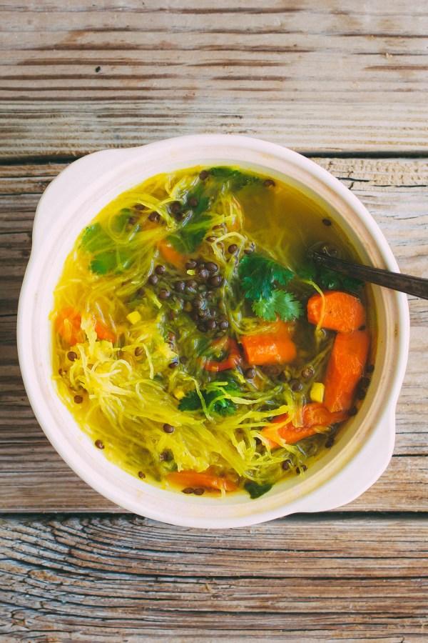 32 Creative Spaghetti Squash Recipes: Squash Noodle Soup
