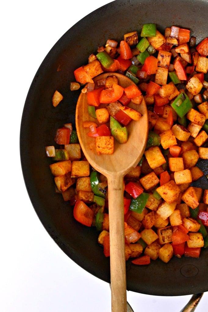 49 Savory Vegan Breakfast Recipes: Jicama Home Fries
