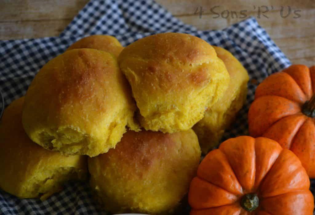 Creative Dinner Roll Recipes | Pumpkin Olive Oil Dinner Rolls