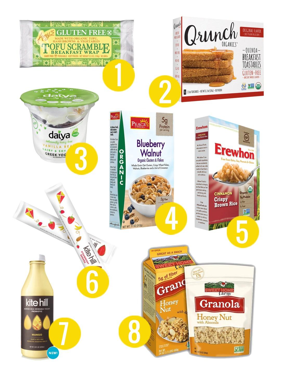 8 Vegetarian Grab & Go Breakfast Ideas