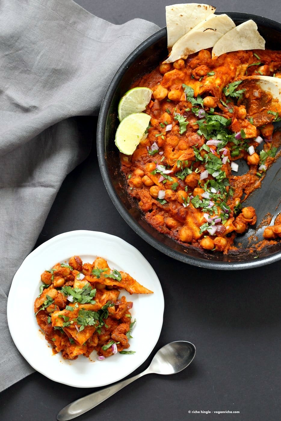 49 Savory Vegan Breakfast Recipes: Vegan Chickpea Chilaquiles