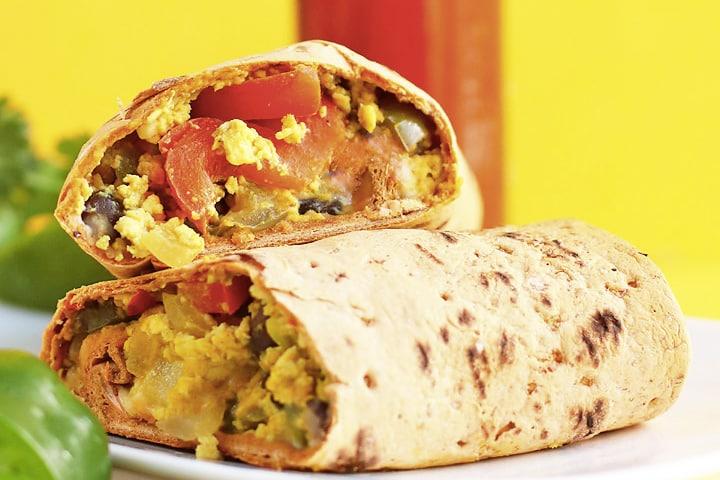 Best Vegetarian Freezer Cooking Breakfasts to Start Your Day Right: Vegan Southwestern Breakfast Burritos