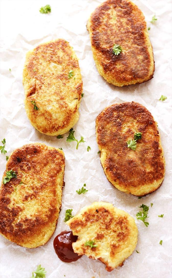 49 Savory Vegan Breakfast Recipes: Cauliflower Hashbrowns