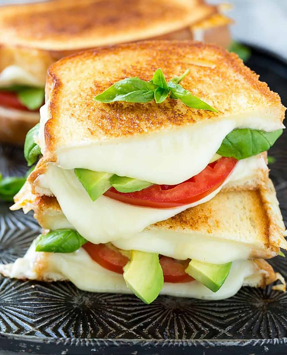 21 Mind-Blowing Grilled Cheese Sandwich Recipes: Grilled Caprese Sandwich
