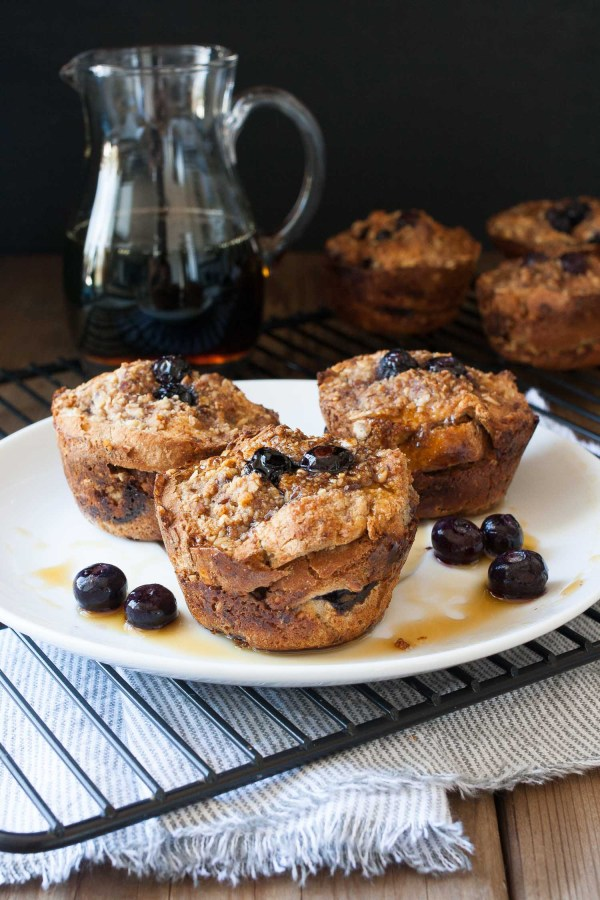 Best Vegetarian Freezer Cooking Breakfasts to Start Your Day Right: Vegan Blueberry French Toast Breakfast Muffins