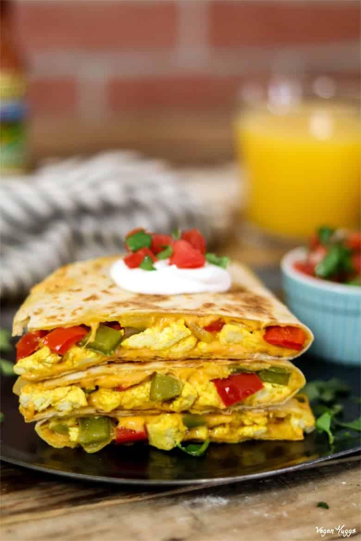 49 Savory Vegan Breakfast Recipes: Hearty Vegan Breakfast Quesadilla