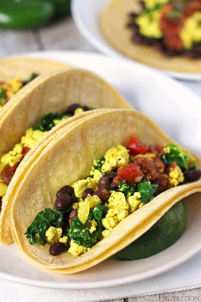 49 Savory Vegan Breakfast Recipes: Vegan Breakfast Tacos