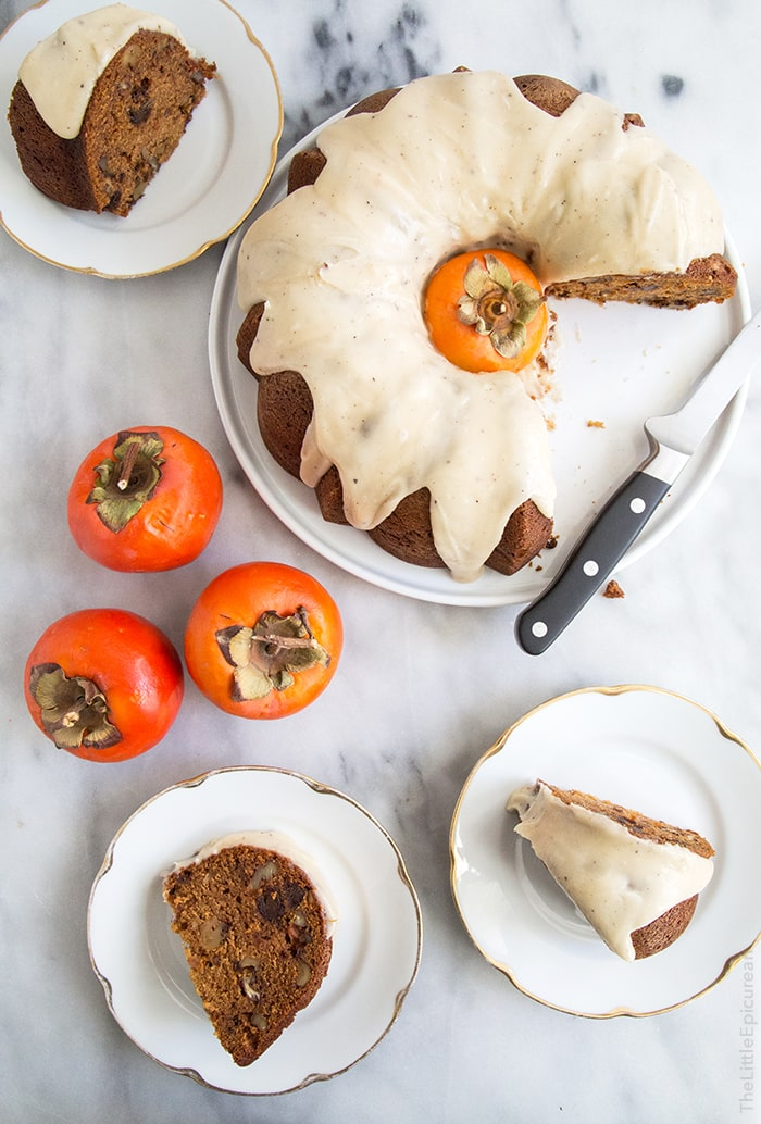 15 Crave-Worthy Pound Cake Recipes: Persimmon Rum Pound Bundt Cake