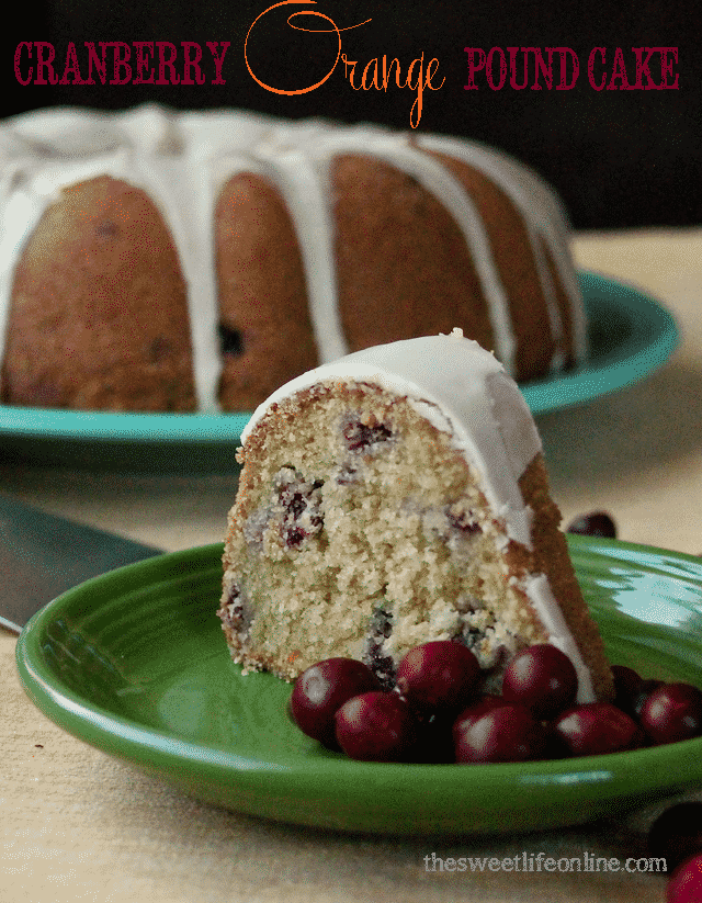 15 Crave-Worthy Pound Cake Recipes: Vegan Cranberry Orange Pound Cake