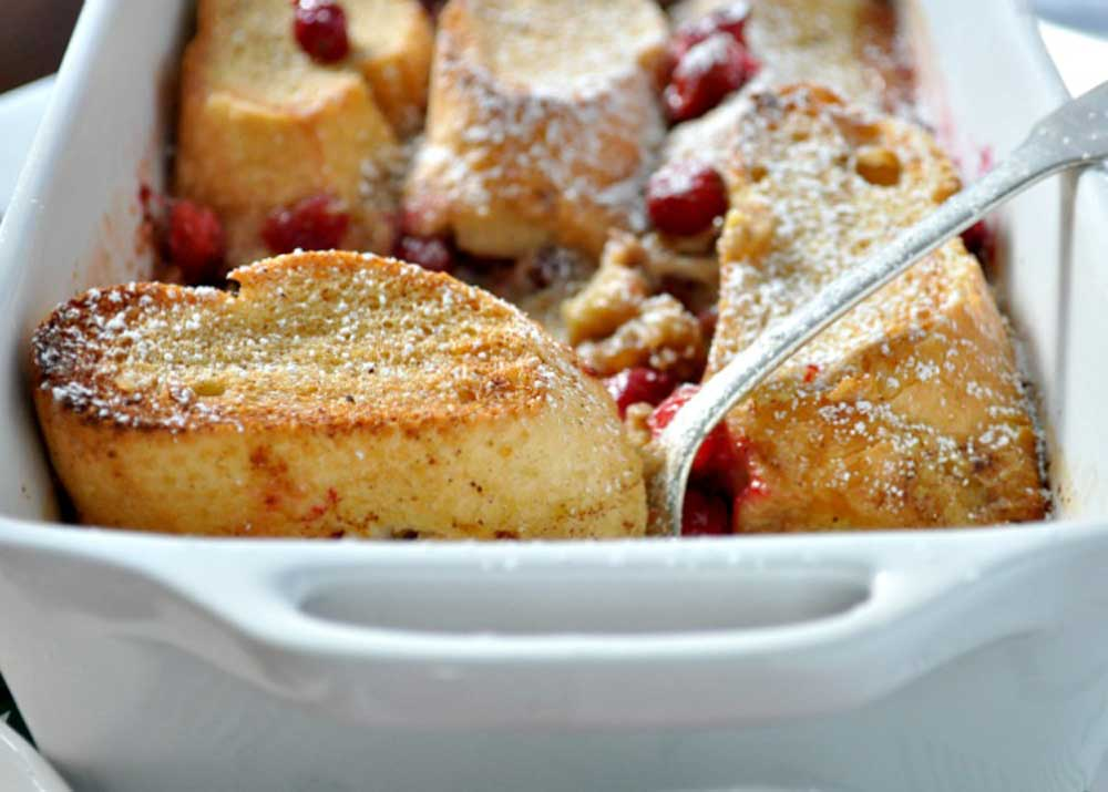 15 Delicious Recipes That Take French Toast to the Next Level: Overnight Cranberry French Toast Casserole