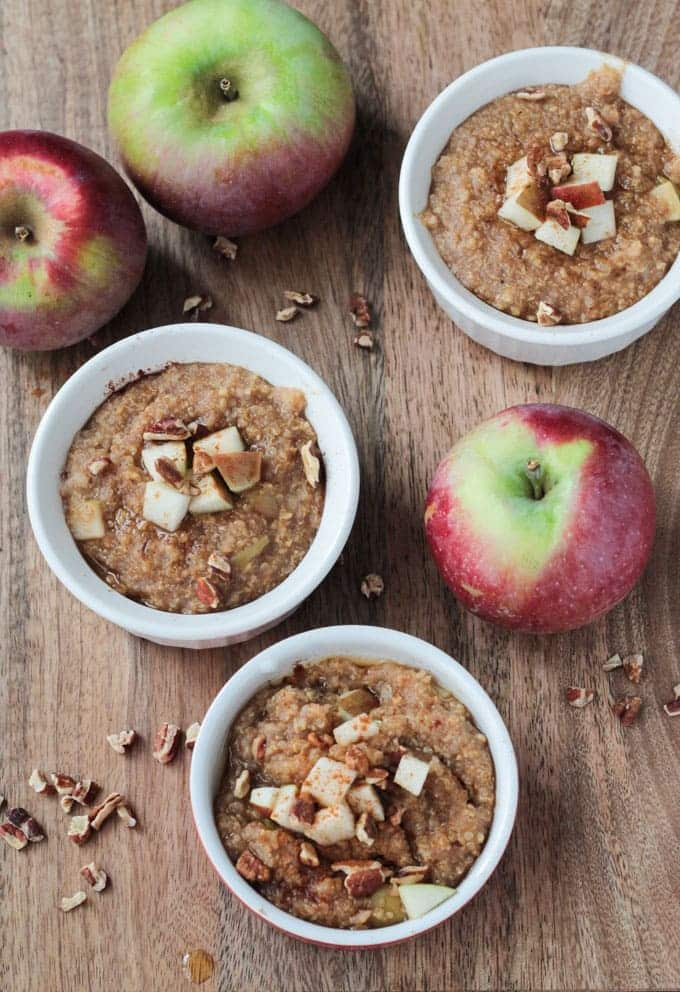 Millet Recipe - Apple Pie Spiced Mixed Grain Breakfast Cereal