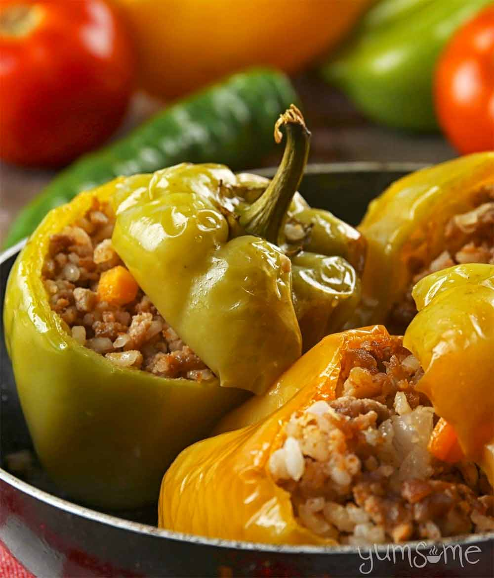 19 Recipes that Swap Lentils for Meat: Croatian Stuffed Peppers
