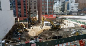 Construction near Willoughby Square Park