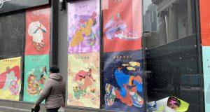 Sarula Bao's Hanfu x Chunky Sneaker installation