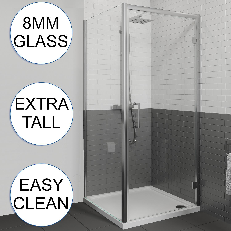 Showers Shower Parts Perfect 800mm Pivot Shower Door 8mm
