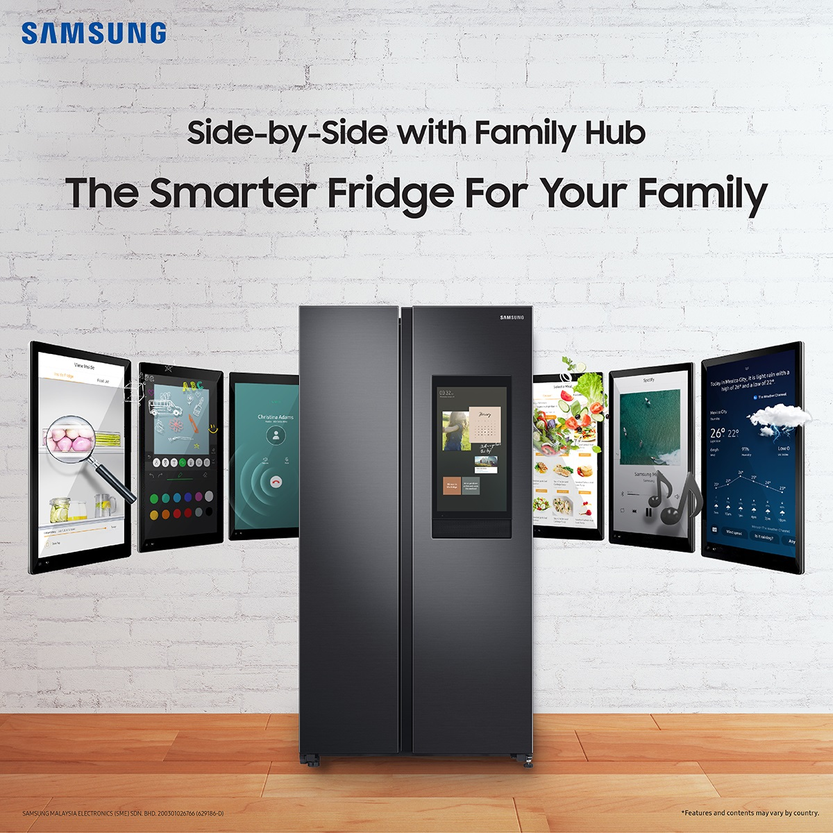 Samsung Family Hub Introduces a Whole New Way of Convenient, Connected Living