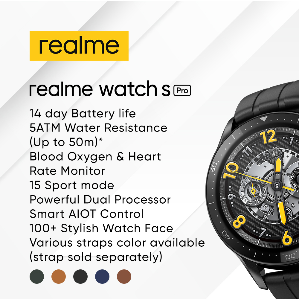 realme Watch S Pro With Premium Stainless Steel Case Will Be Priced at RM599