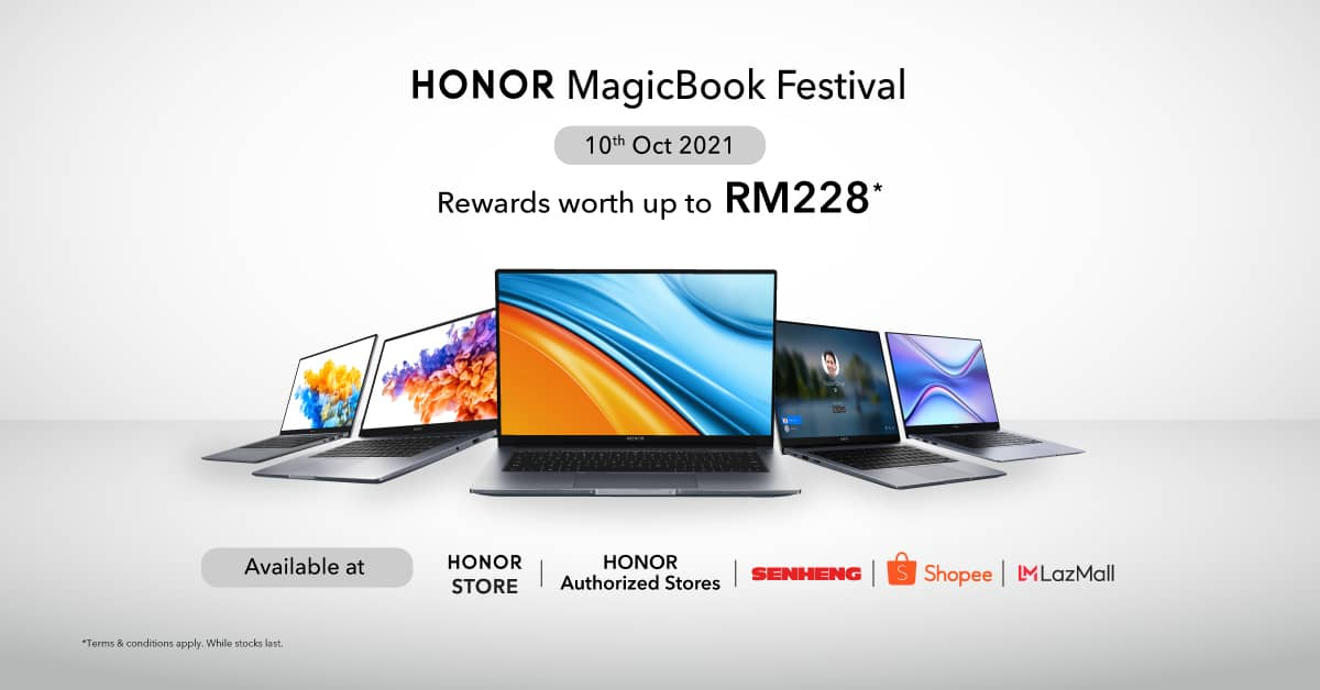 HONOR MagicBook Festival is Here for a One-Day Only Promo on October 10th