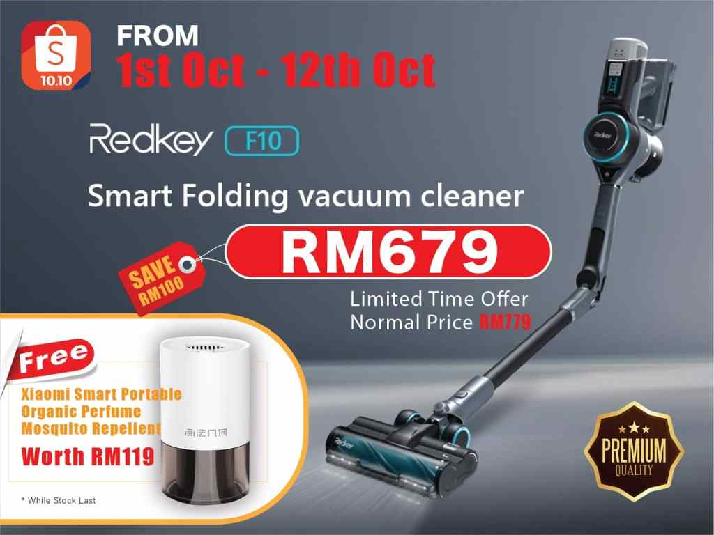 Redkey F10 Cordless Foldable Vacuum Cleaner