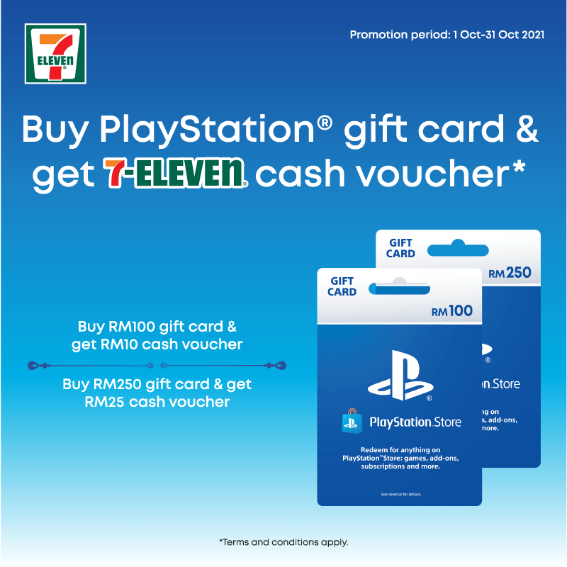 Be Rewarded with Up to RM25 Vouchers with Purchase of PlayStation Store Gift Cards