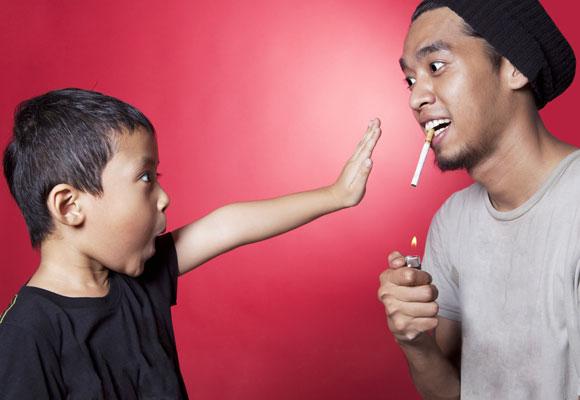 bahaya asap rokok kepada anak