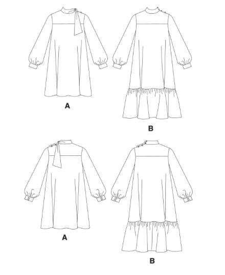 Vogue V1652 pattern diagrams