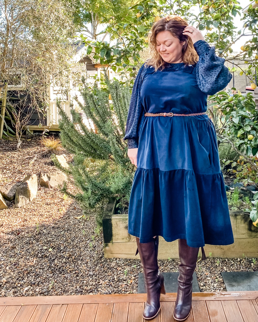 Marsha Style Grace - Winter pattern hack - by oh sew fearless