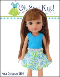 oh sew kat free skirt pattern for dolls