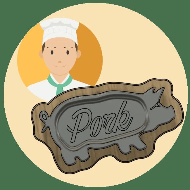 お客様とステーキ皿03