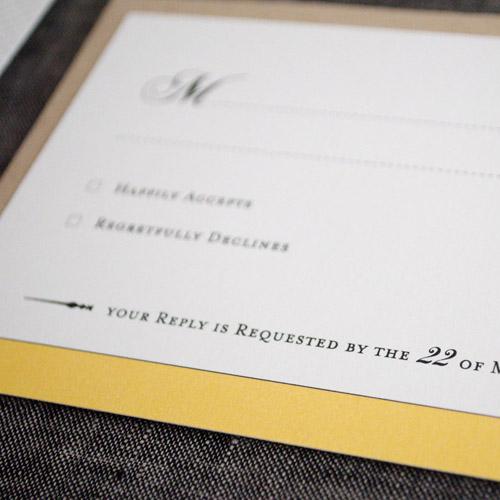 Digital Printed Wedding Invitation Rsvp
