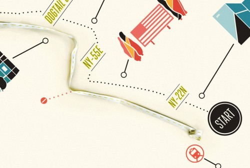 Modern-Handkerchief-Map-Wedding-Invitation-Detail