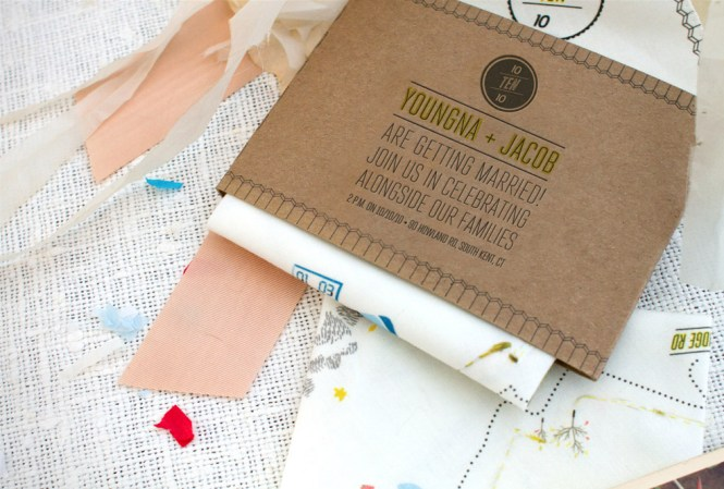 Handkerchief And Kraft Paper Invitation Wedding Invitations