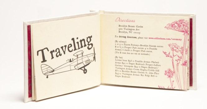 Travel Themed Destination Wedding Invitation Booklet