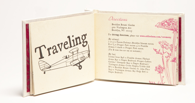 Creative Book Custom Wedding Invitations Travel Info