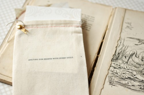 Organic-Gray-Gold-Baby-Announcements-Muslin-Bag