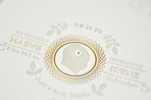 Organic-Gray-Gold-Baby-Announcements-Silhouette