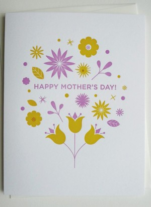 Fine Day Press Pink Yellow Mothers Day Card 300x412