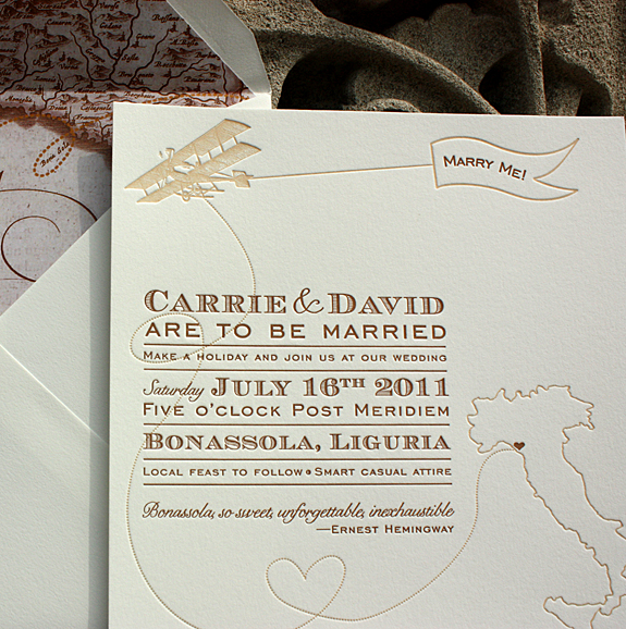 Vintage Inspired Invitations For A Destination Wedding In Italy