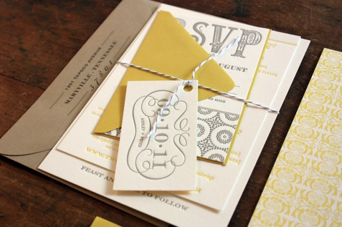 Ashley Peter S Yellow And Gray Patterned Letterpress