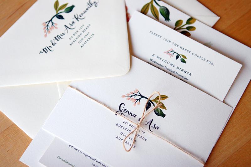 Paper Wedding Stationery