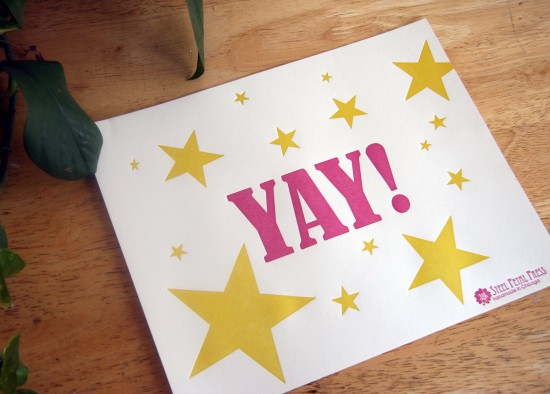 Yay Stars Print Steel Petal Press 550x394
