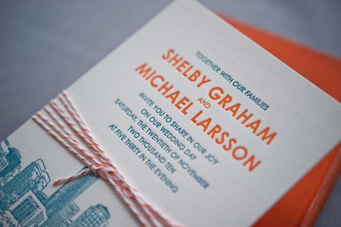 Elegant Letterpress Wedding Invitations Weekend Cards