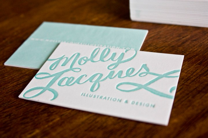 Molly Jacques Calligraphy Business Cards   Artwork Molly