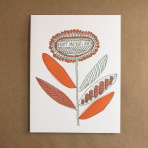 Egg Press Letterpress Mothers Day Card2 300x300 Mothers Day Cards, Part 2
